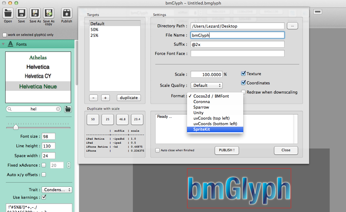 sprite kit bitmap font